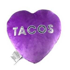 NWT 2SCOOPS Purple Pillow cushion TACOS scented